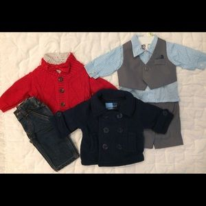 Other - 2 Dress Outfits and 1 Jacket- 3-6 mth